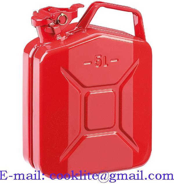 Benzino kanistras metalinis / Metalinis kuro kanistras 5L
