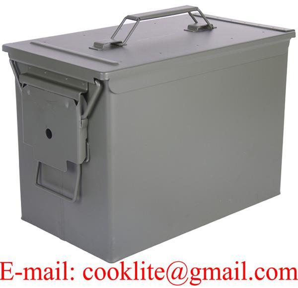 Metal fişek taşima kutusu / Askeri Mühimmat kutusu - Büyük Boy