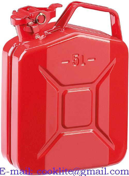 Metal Benzin ve Sıvı Taşıma Bidonu 5 Litre
