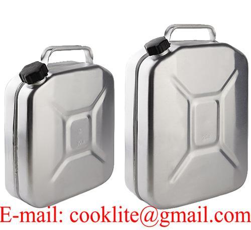 Alüminyum Yakıt Benzin Bidonu 10/20 lt Plastik Kapak