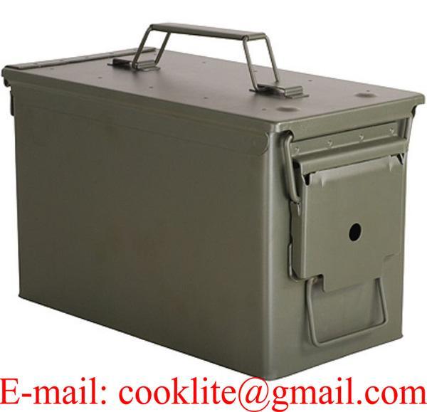 US Munitionskiste Munikiste Box Transportkiste Cal.50mm M2A1 Metall Oliv
