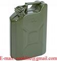 Metall Benzinkanister Reservekanister Kraftstoffkanister 10 Liter mit Jerican-Verschluss