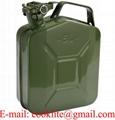Metall-Kanister 5 Liter Reservekanister Benzin-Kanister Kraftstoff-Behälter