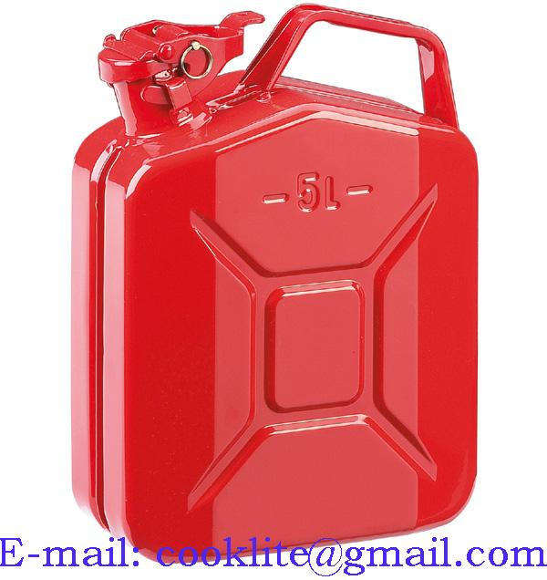Bidon d'essence en tôle d'acier 5 litres