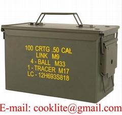 Boîte de munitions militaire / Caisse à munition métallique