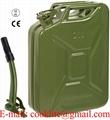 Galão de metal 20 litros verde exército para combustível gasolina
