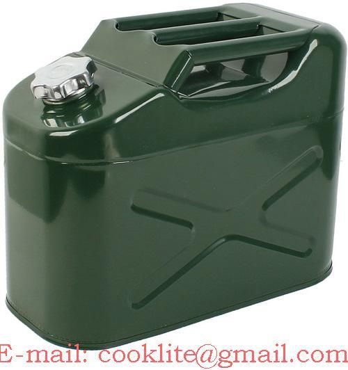 Galão tanque de combustível 10 litros em aço galvanizado para veículos 4x4