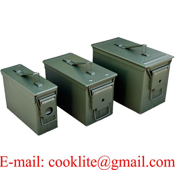 Mil-Spec Ammo Can 3-Can Combo Pack Steel Ammunition Storage Box