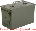 U.S. Military Fat 50 SAW Box Steel Ammo Can - PA108