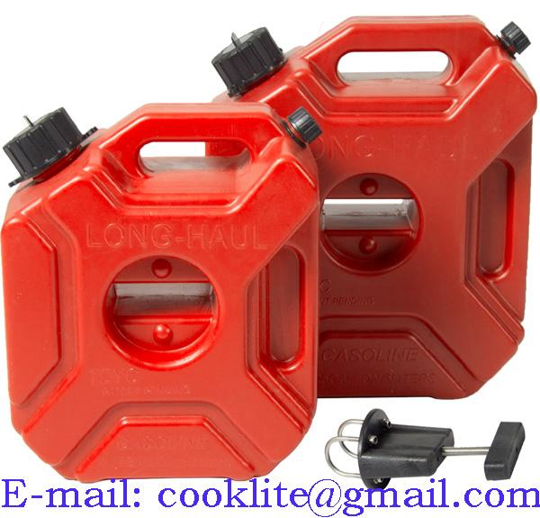 3L Portable Fuel Tank Plastic Jerry Can Gas Diesel Lock ATV SUV Motorcycle