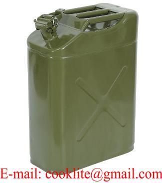 Galão tanque de gasolina ou combustível 20 litros em aço galvanizado para veículos 4x4