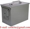 Caixa para Armanezamento de Munição Metal Verde PA108