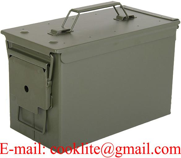 Caixa cofre metálica militar para munição PA108