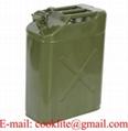 Bidão / jerrycan gasolina combustível metálico 20 litros tipo militar