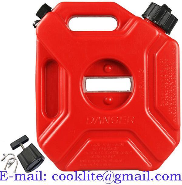 Galão de polietileno vermelho 5 litros para água ou combustível