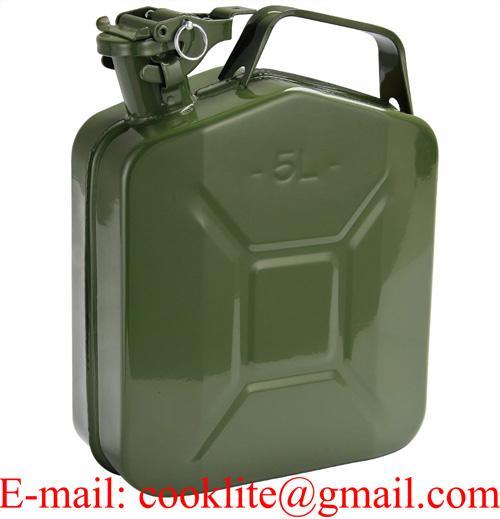 Galão reservatório com bico para combustível gasolina 5l metal Jeep