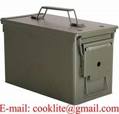 Caixa cofre porta metálica militar para munição CBC M2A1
