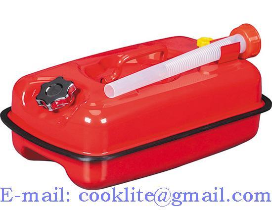Galão de gasolina e combustível vermelho para bagageiro 5 litros