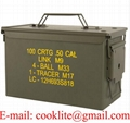 Teräksinen ammuslaatikko M2A1 50 Cal