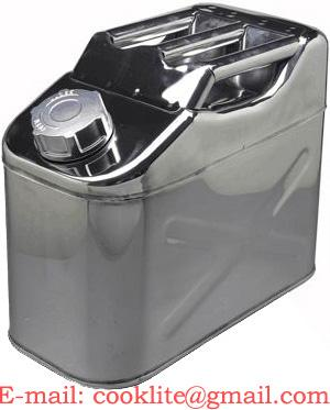 ステンレス製 ガソリン携行缶/燃料缶 UN規格 縦型 10L