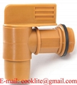 "2"" Gold Plastic (Polyethylene) Drum Spigot"