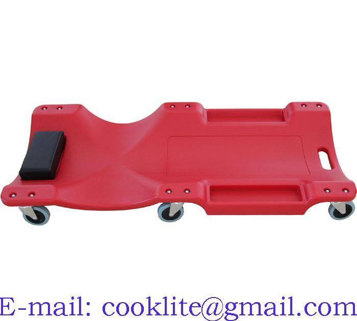 HDPE liggebræt 101cm liggevogn med pude og 6 drejelige hjul