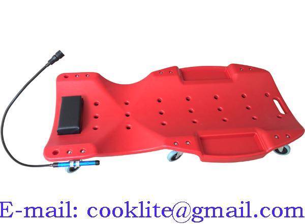 Montage liggebræt / Mekaniker liggevogn m. værktøjsbakker