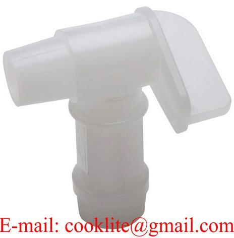 Fasshahn 3/4 Zoll Auslaufhahn Kunststoff weiß