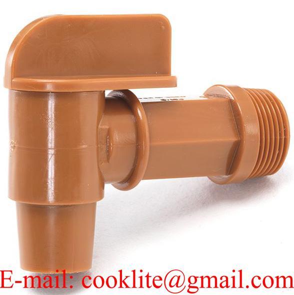 Rubinetto 3/4' BSP in polietilene per fusti