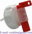 Red/white 61 mm aeroflow tap-cap for 20l container