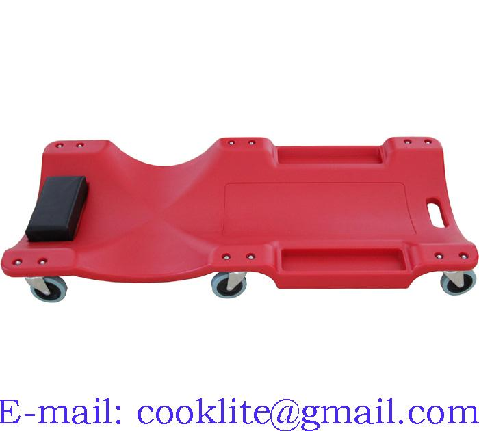 Carrinho Esteira para Mecânico Plastico Waft 120kg 6 Rodizios