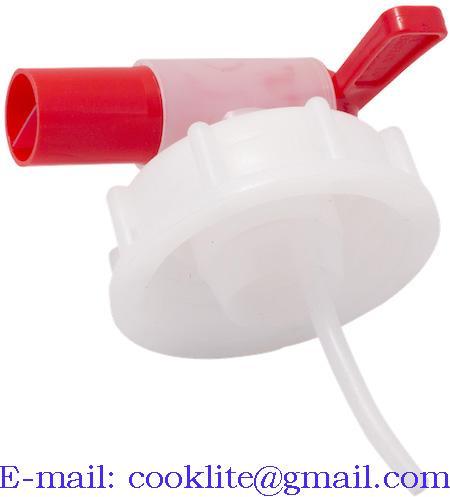 Torneira de plástico com ligação DIN61 para bidão de plástico de 20 l e tambor de plástico de 60 l