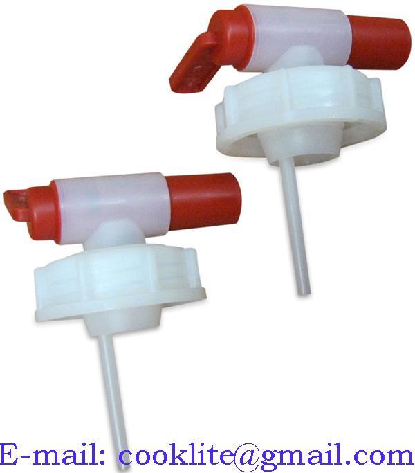 Tapón grifo plastico 51mm para bidon de 5 y 10 litros