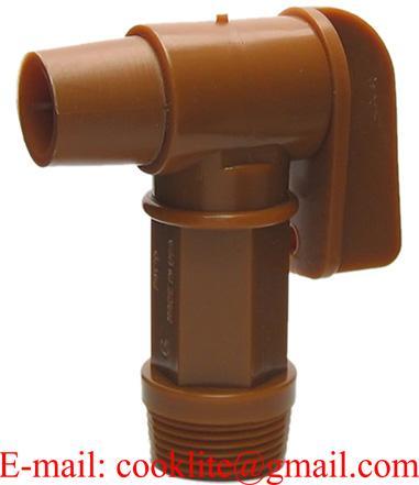 """Grifo en polietileno (PE) para bidones, diámetro rosca 3/4"""""""