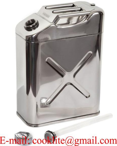 ג'ריקן מים/דלק 20 ליטר מנירוסטה