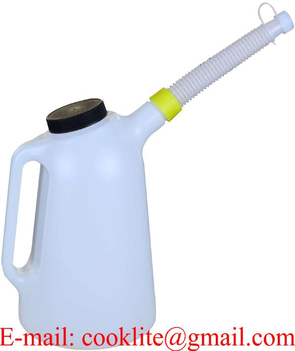 3 Litre Plastic Measuring Jug with Flexible Spout & Lid Oil Fuel