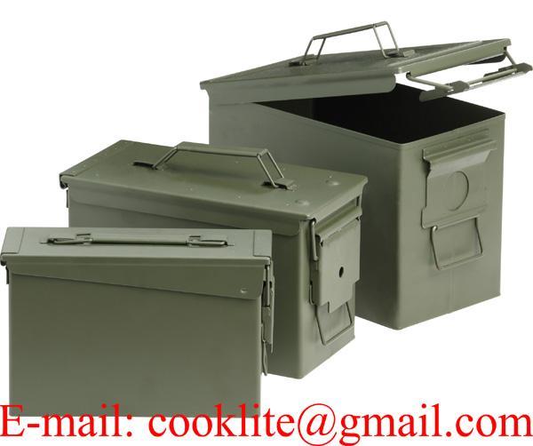 Militær ammunitionskasse i metal