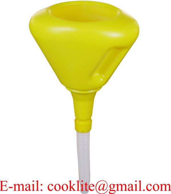 Воронка с гибким сливом и фильтром, объем 2 л, диаметр 190 мм