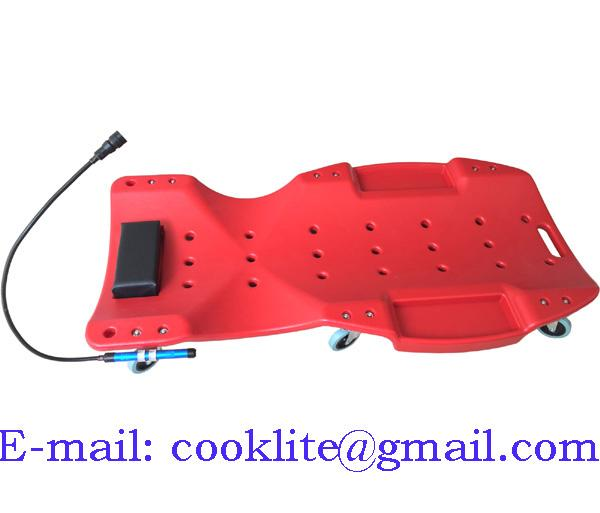 Лежак ремонтный пластиковый на колесах