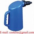 Plastmått/Påfyllningsflaska för batterisyra 2 lit