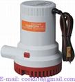 Povandeninė triumo siurblys/pompa 12V/24V 1500GPH