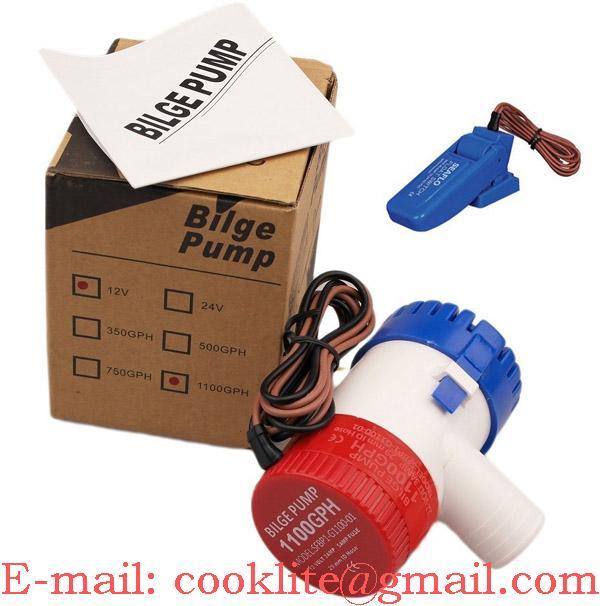 Električna kalužna črpalka / Kaljužna pumpa uronjiva 1100GPH 12-24V