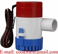 Mini Submersible Boat Marine Bilge Pump 350 GPH 12V 24V Non Automatic
