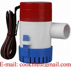 Mini Submersible Bilge Pump 350 GPH 12V 24V Non Automatic