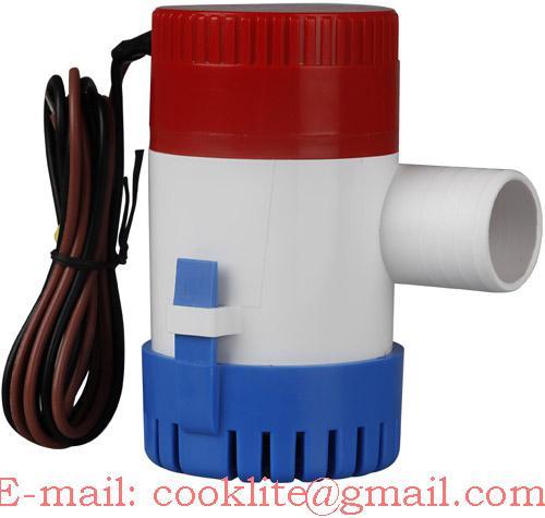 DC Marine Bilge Pump / Mini Water Pump - 12V 1100GPH