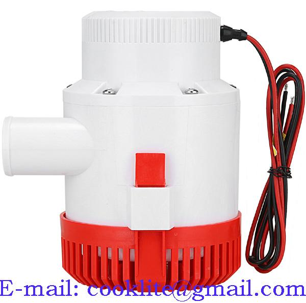 3500 GPH Marine Water Bilge Pump Submersible Yacht Boat 12V