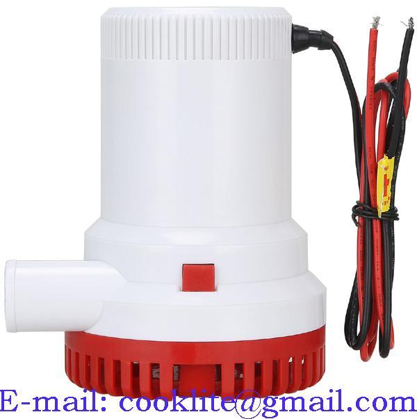 Elektrisk lensepumpe 12V 1500GPH Nedsenkbar pumpe