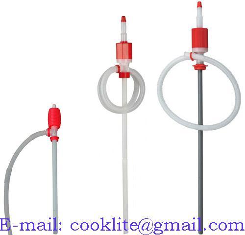 Hevertpumpe ( hevert m/pumpe ) / Manuell fatpumpe / Håndpumpe i polyetylen