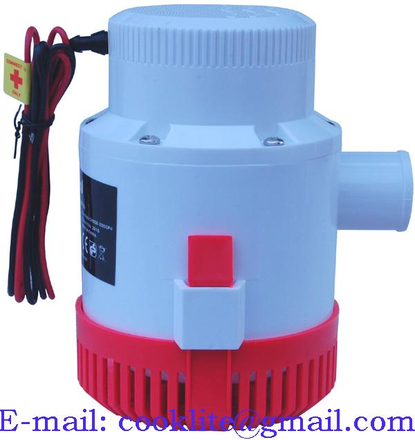 Pompe électrique de cale immergée / Pompe submersible de drainage - 12V 3000GPH