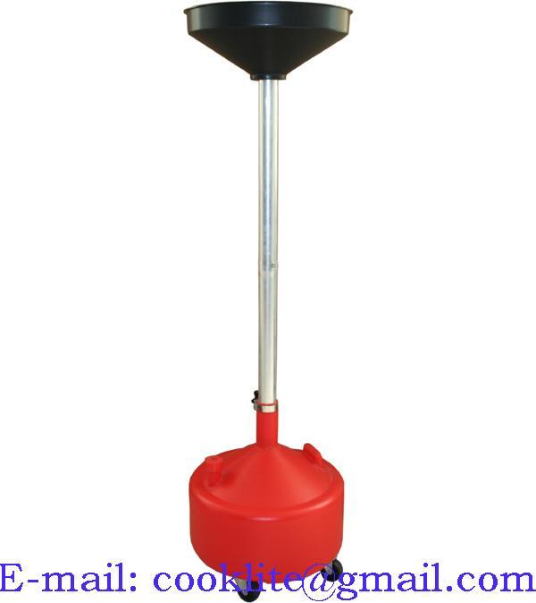 Nádoba pre vypúšťanie oleja, 30l, nastaviteľná výška
